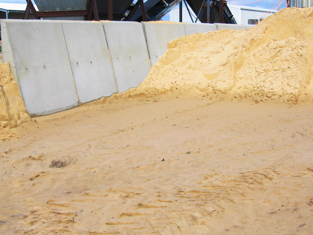 Used for gravel & sand storage
